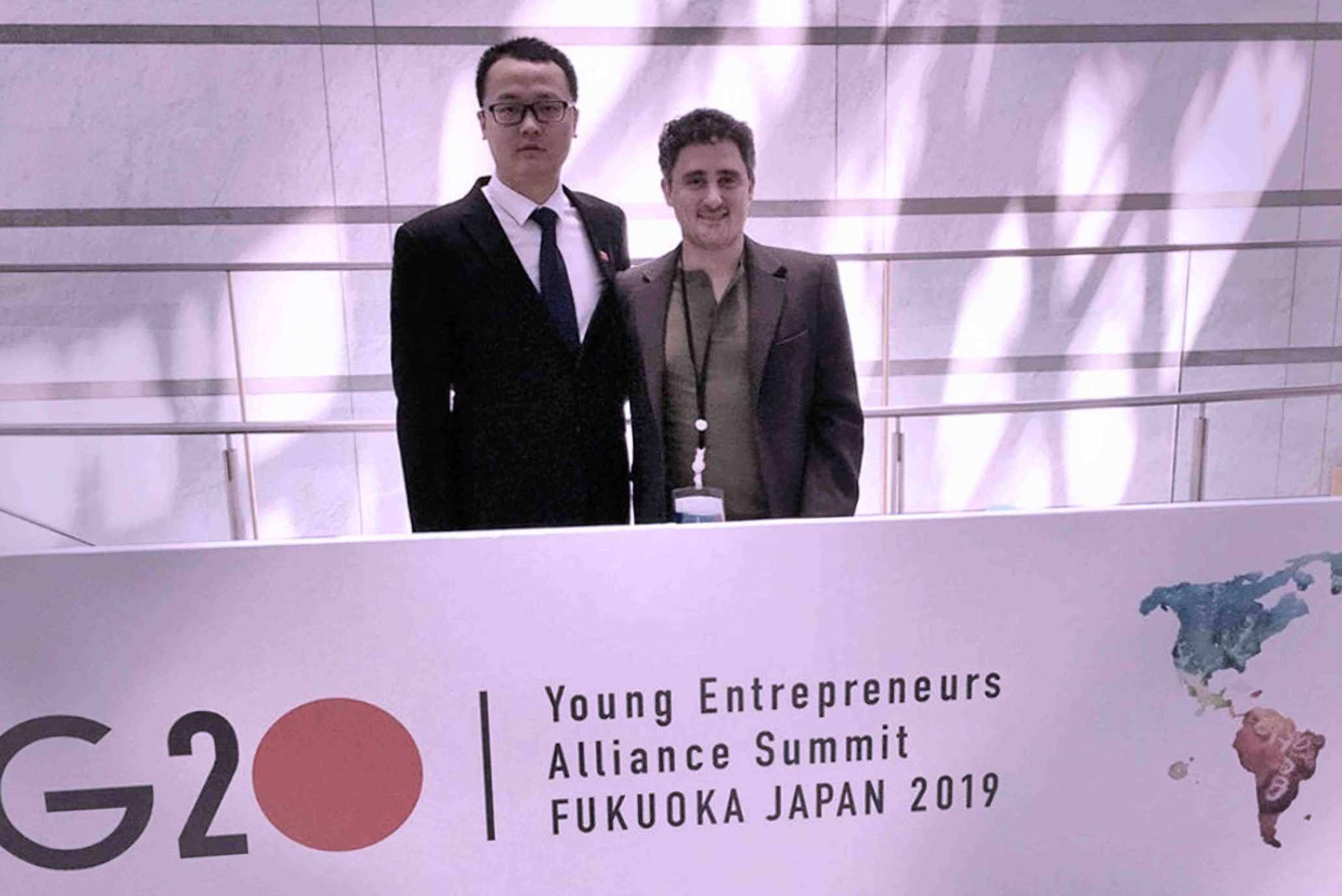 Francisco Santolo at the G20 Young Entrepreneurs' Alliance Summit in Japan